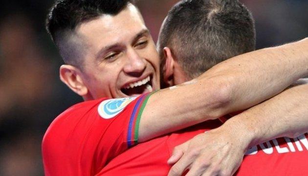 Азербайджан стал вторым четвертьфиналистом чемпионата Европы по футзалу