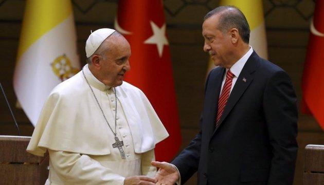 Ердоган і Папа Римський обговорять статус Єрусалима