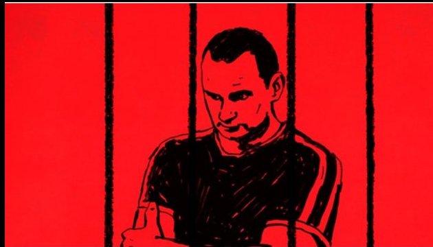 Petición exigiendo la liberación de Sentsov enviada a la Embajada de Rusia en París