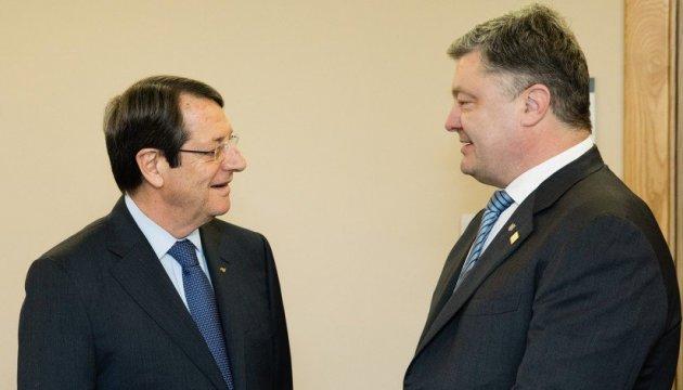 Poroschenko telefoniert mit Nikos Anastasiadis