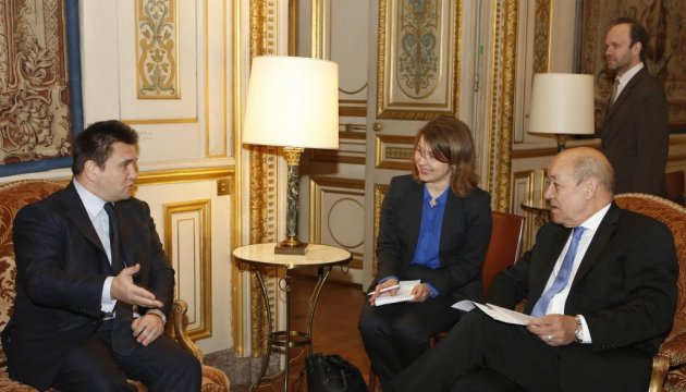 Klimkin meets French politicians, stresses importance of exerting pressure on Russia