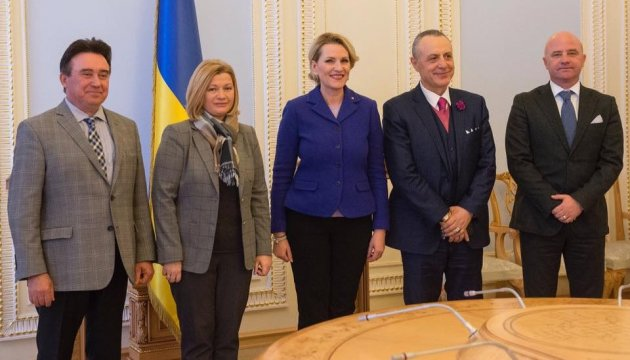 Iryna Gerashchenko urges Albania to support UN peacekeeping mission in occupied Donbas