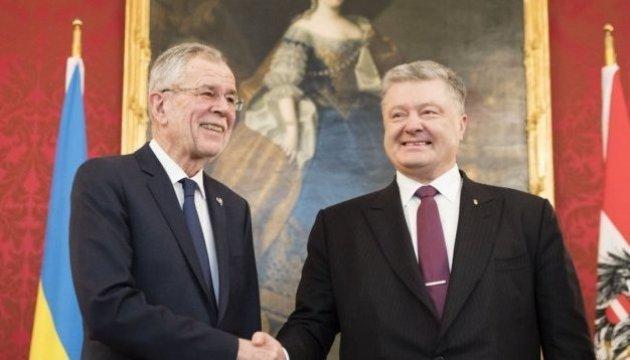 Poroshenko holding talks with Austrian president in Vienna