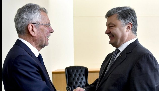 Poroshenko meets with Austrian president