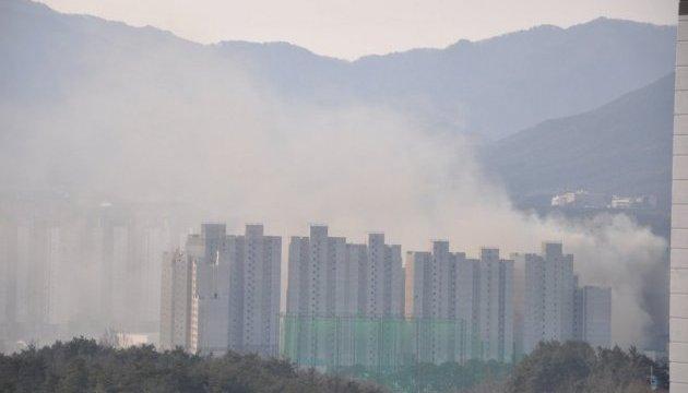 Возле олимпийского городка произошел крупный пожар