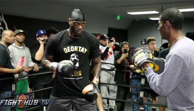 Бокс: Уайлдер провел открытую тренировку перед боем с Ортисом