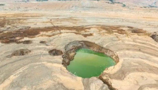 Возле Мертвого моря образовалось более 6 тысяч карстовых воронок