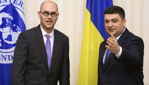Hrojsman empfängt Leiter technischer IWF-Mission