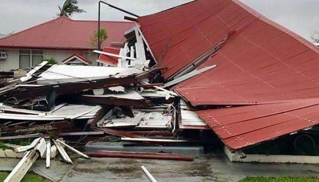 Циклон разрушил здание парламента в королевстве Тонга