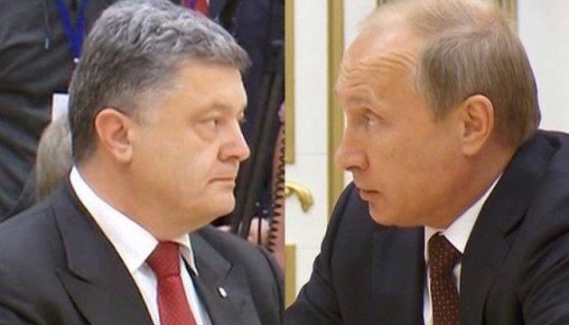 Poroshenko confirms he spoke with Putin
