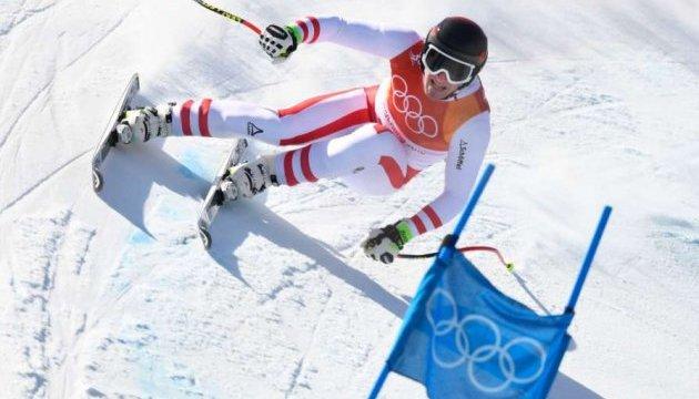 Австрійській гірськолижник Маттіас Майєр переміг в супергіганті