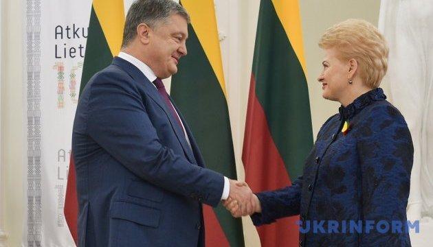 Грибаускайте в ближайшие дни посетит Украину