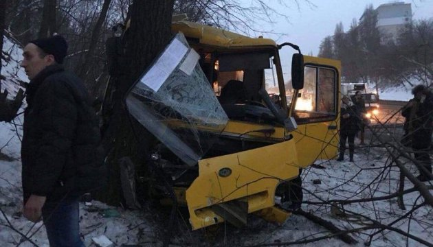 В Киеве столкнулись две маршрутки, двое тяжело травмированных