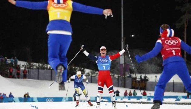 Норвежские лыжницы выиграли эстафетную гонку в Пхёнчхане
