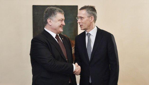 Порошенко и Столтенберг встретились в Мюнхене