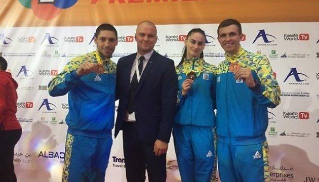 Украинские каратисты завоевали три медали на турнире серии Karate 1 в Дубае