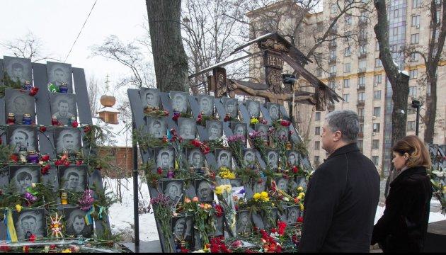 Heroes of Heavenly Hundred are true guardian angels of Ukraine - Poroshenko