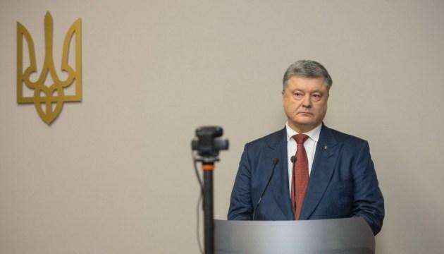 Poroshenko says he saw Russian military in Simferopol in 2014