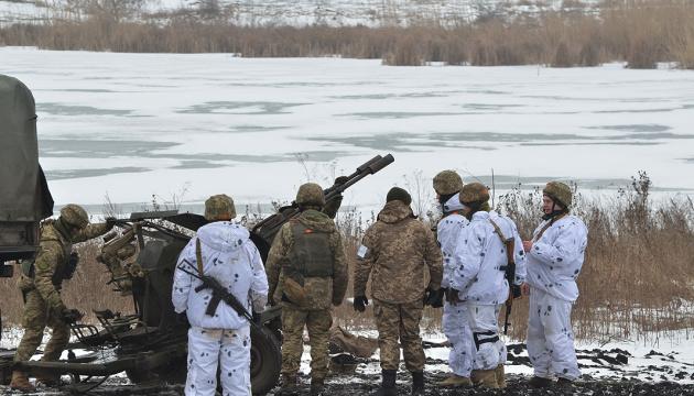 Ambassadors of Estonia, Latvia and Poland arrive in JFO area in Donbas