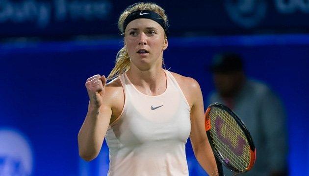 Свитолина прошла в полуфинал теннисного турнира в Дубае