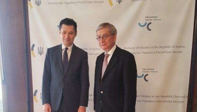 Президент СКУ у Відні обговорив поглиблення співпраці з українським посольством