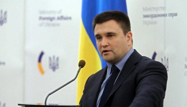 Klimkin: El MAE trabajará para que todos los participantes de las presidenciales rusas en Crimea estén sujetos a sanciones