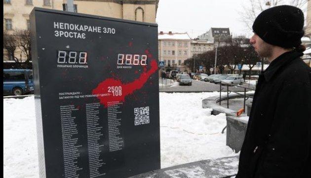 Во Львове установили счетчик наказанных за преступления против Майдана