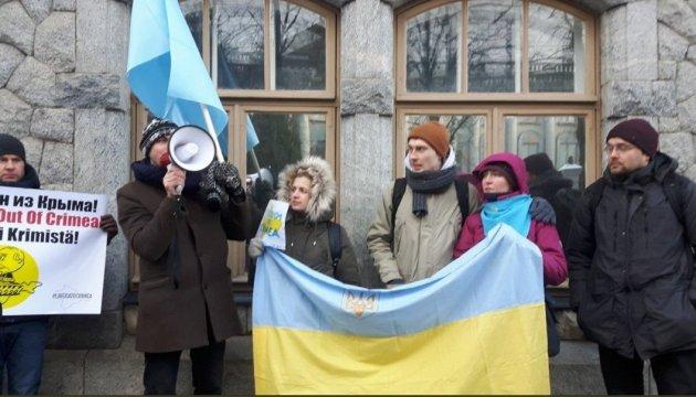 Rassemblement à Helsinki pour célébrer le Jour de la résistance à l'occupation de la Crimée (photos)