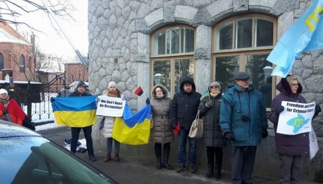 Activists in Helsinki mark Day of Resistance to Occupation of Crimea
