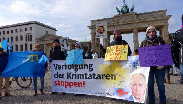 В центре Берлина прошла акция против оккупации Крыма