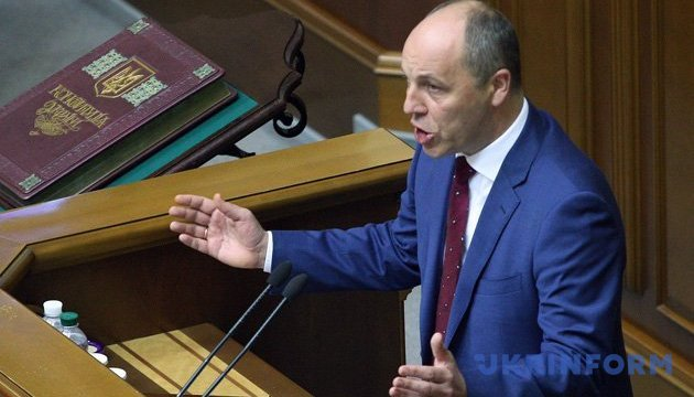 Parubiy calls on parliament to adopt new language law