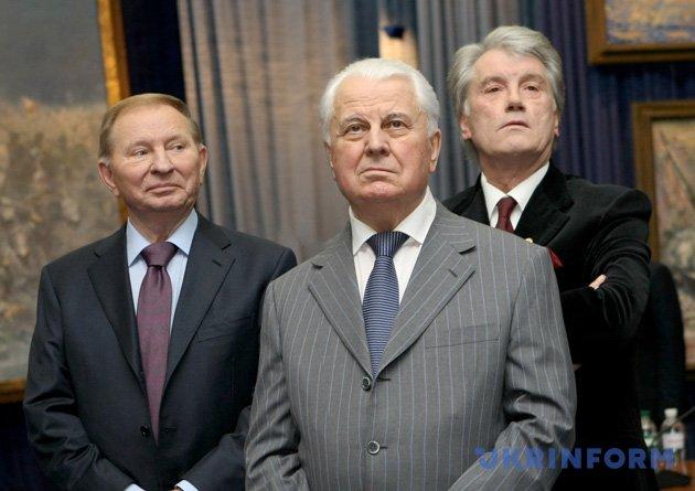 Леонід Кравчук, Леонід Кучма,  Віктор Ющенко