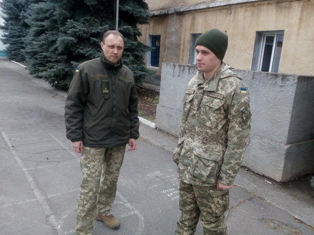 Майор Олег Івлєв та молодший лейтенант Ігор Тоцький