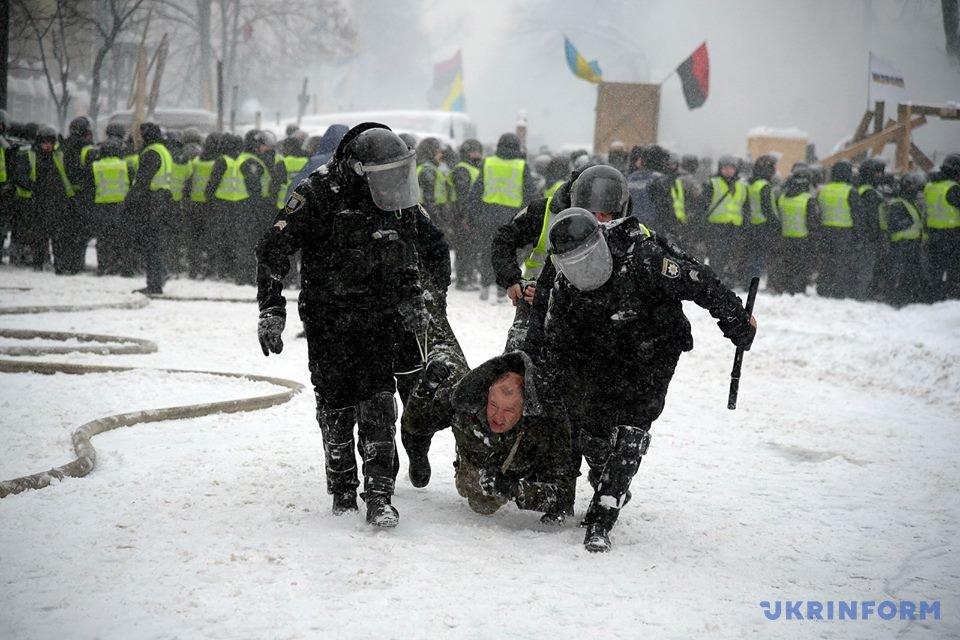 Демонтаж палаточного городка: под Радой произошли столкновения между правоохранителями и активистами / Фото Владимира Тарасова, Укринформ