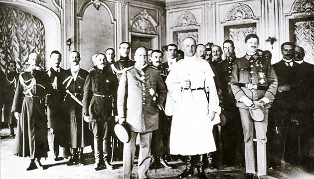Прийом у Гетьмана Павла Скоропадського, Київ, 1918 рік. Фото: tsdkffa.archives.gov.ua