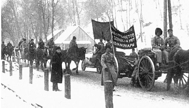 Більшовицьке військо, зима 1919 року. Фото: tsdkffa.archives.gov.ua