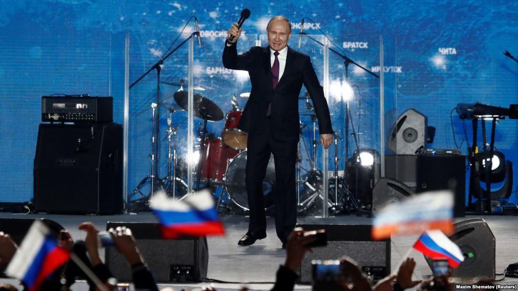 Володимир Путін на концерті в Севастополі, 14 березня 2018 року // Фото: Крим.Реалії