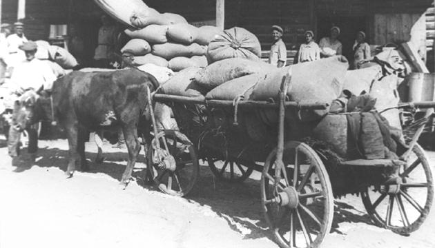 Виїзд червоної валки з хлібом. Фото: tsdkffa.archives.gov.ua