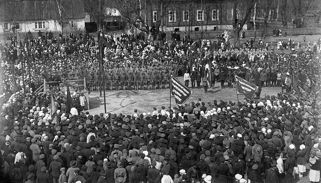 Die Entsendung von wehrpflichtigen Soldaten aus Schostka zum kommunistischen Tschernihiwskyj-Regiment, Juli, 1919