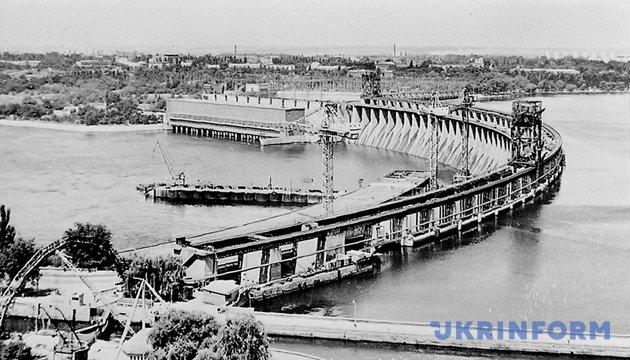 Дніпрогес, початок 1930-х. Фото: Укрінформ