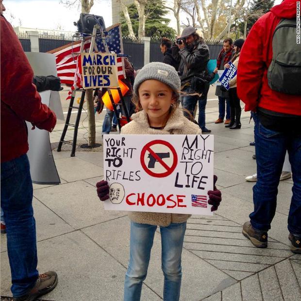 Сотни тыс. американцев вышли на«Марш ради жизней»