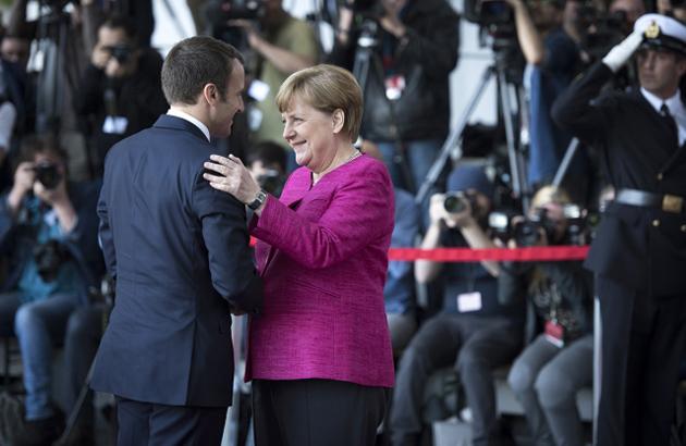 Макрон, Меркель