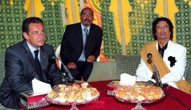 Саркозі, Каддафі