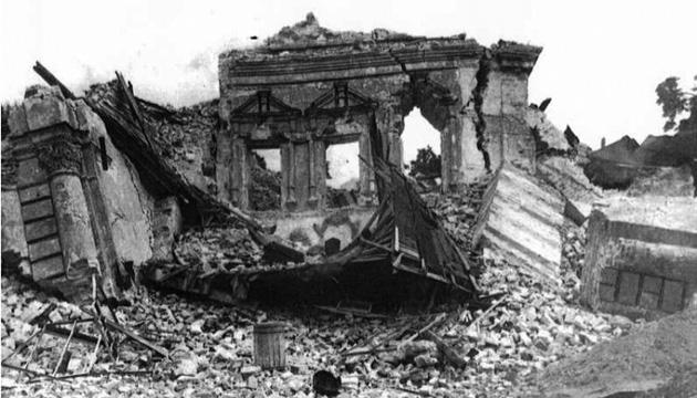 Зруйнований Михайлівський собор. Фото: tsdkffa.archives.gov.ua