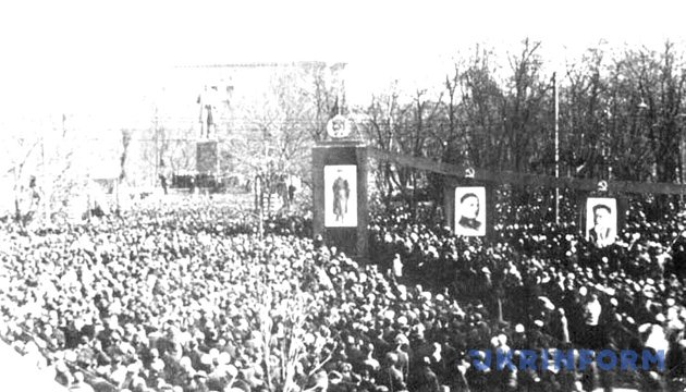 Відкриття пам'ятника Тарасу Шевченку в Києві 6 березня 1939 року. Фото: Укрінформ