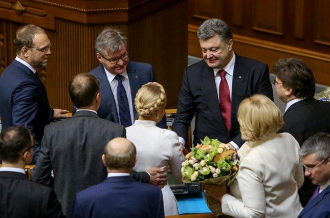Петро Порошенко та Юлія Тимошенко у Верховній Раді