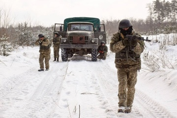 Militants used small arms to shell Ukrainian troops in Donbas