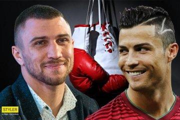 Le boxeur Lomachenko offre ses gants à Ronaldo