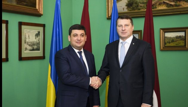 Ukrainian prime minister, Latvian president discuss prospects for UN peacekeeping mission in Donbas