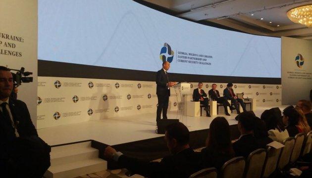 Ukraine, Moldova, Georgia defend EU against Russian aggression - Parubiy